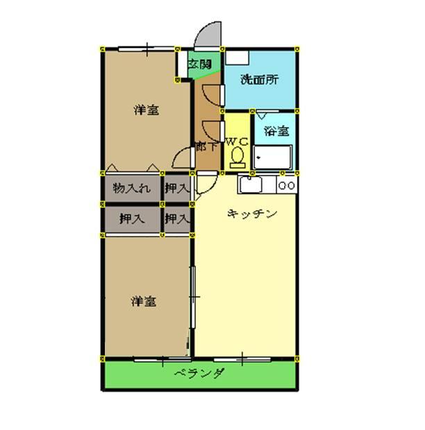 mdゴールドタウン山田Ⅰ洋室